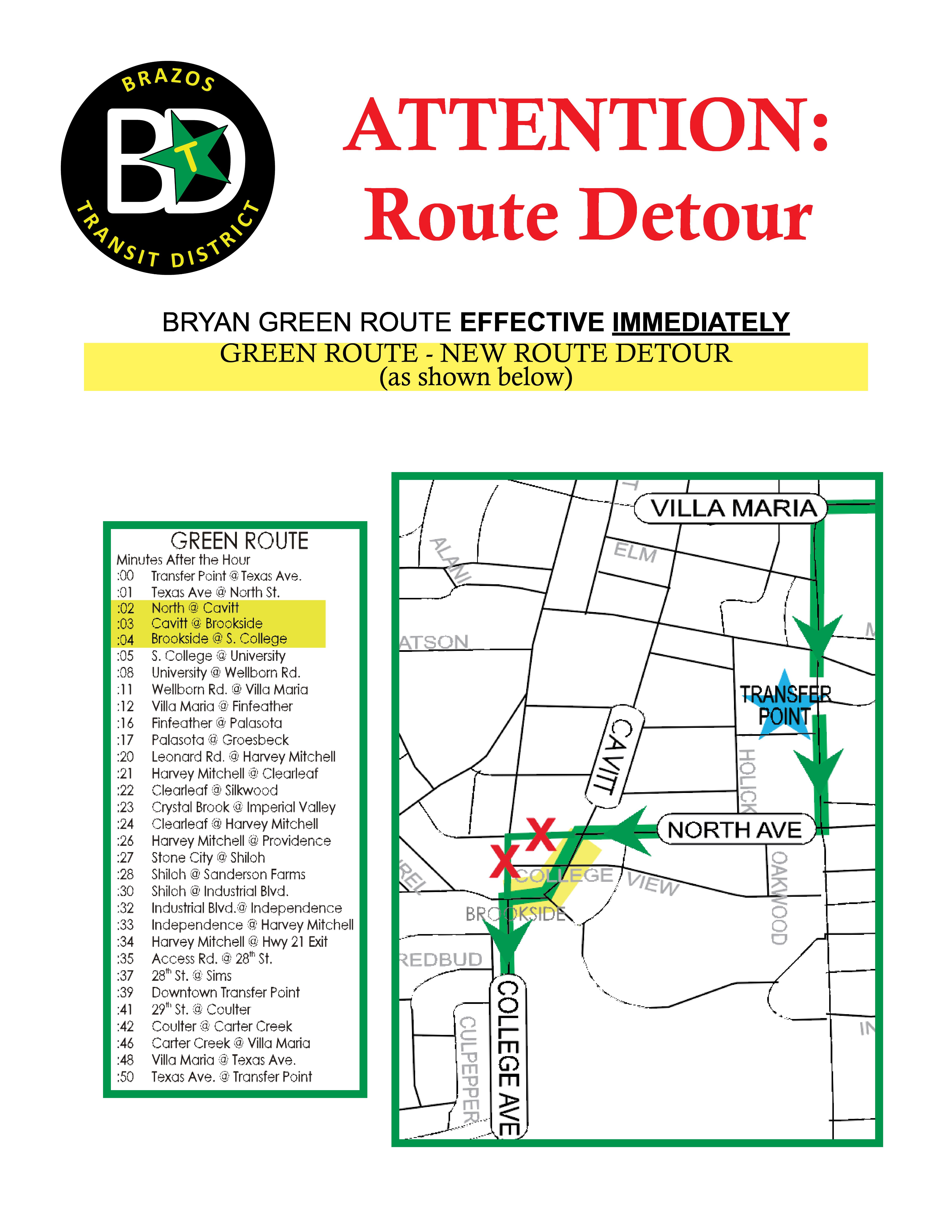 Bryan Green route change 04302018