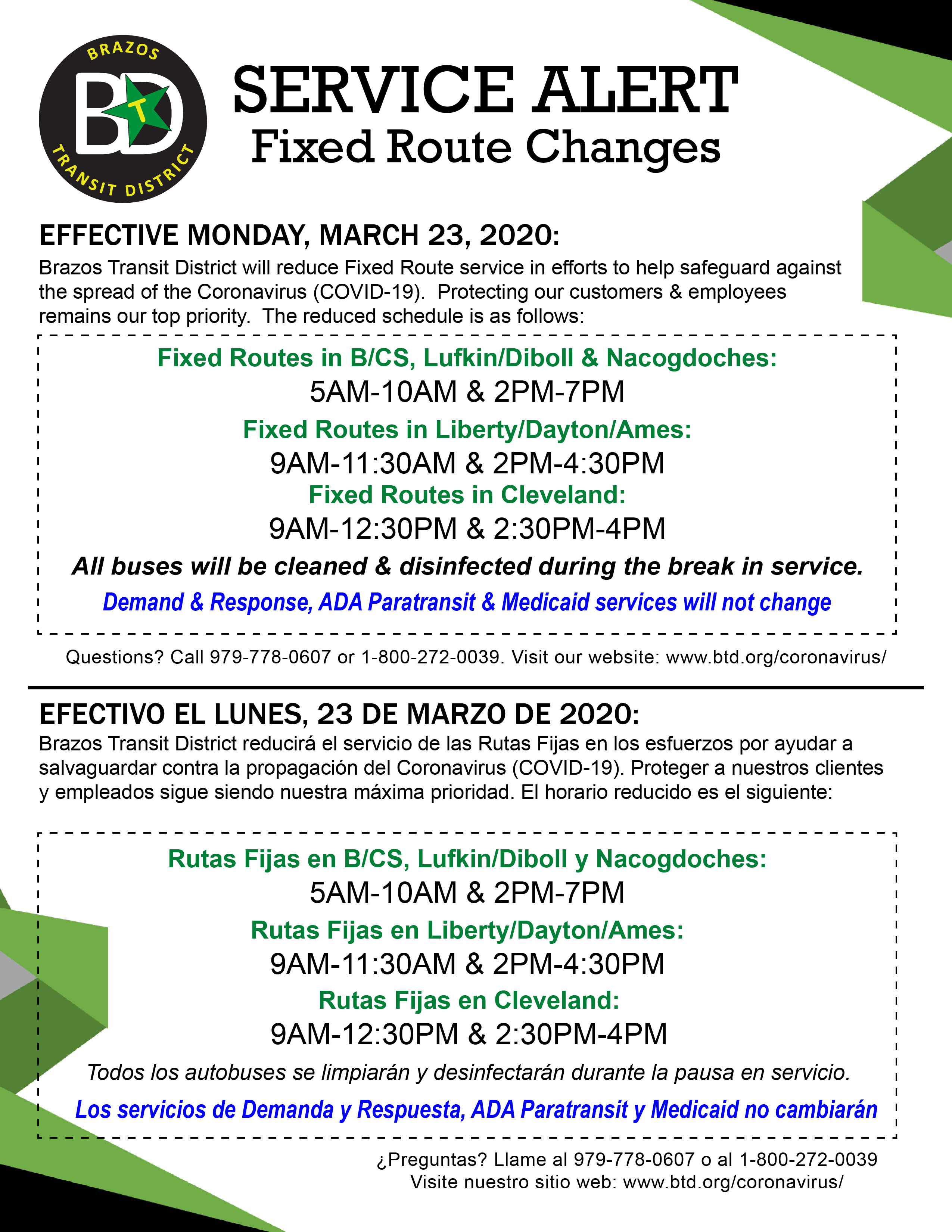 service changes-covid19